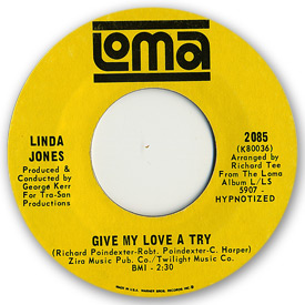 Loma records. Label scans of rare Loma 45 rpm vinyl records. Loma 2085: Linda Jones - Give my love a try