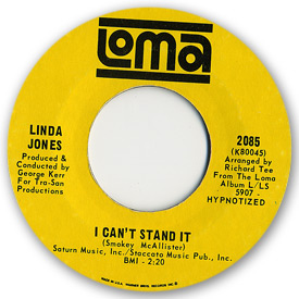 Loma records. Label scans of rare Loma 45 rpm vinyl records.   Northern Soul. Loma 2085 - Linda Jones - I can't stand it