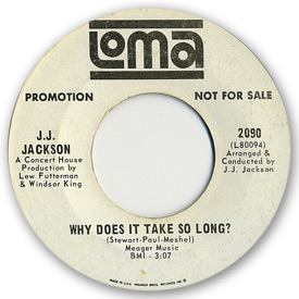 Loma records. Label scans of rare Loma 45 rpm vinyl records. Loma 2090 - J.J. Jackson - Why does it take so long