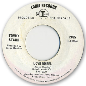 Loma records. Label scans of rare Loma 45 rpm vinyl records. Northern soul. Loma 2095 - Tommy Starr - Love wheel