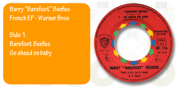 Barry Barefoot Beefus French EP, side 1