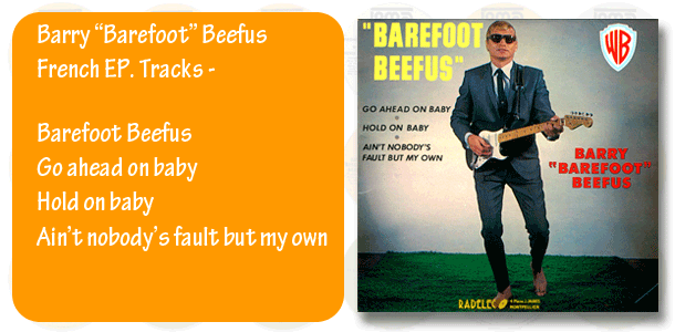 Barry Barefoot Beefus French EP cover
